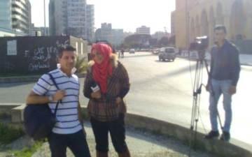 Fabrizio Fratus intervistato dalla tv libanese a Beirut